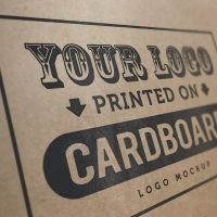 Download free high quality Cardboard logo mockup psd - Psd Files. No waiting time required! Fast download.