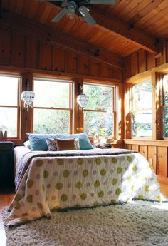 "Mia's ""Sweet Dreams"" Log Cabin & Vintage Camper — House Tour Oh My!!  Talk about a ""dream house"", (AND land!!) !!  I would be in heaven at this place!!  Not to mention that Vintage camper!!"