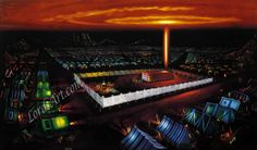 There was a cloud cover by day and a pillar of fire at night - Moses' Tabernacle in the Wilderness by Norbert McNulty ,Biblical Art Tabernacle Of Moses, Pillar Of Fire, Where The Sun Rises, Book Of Exodus, Feast Of Tabernacles, Spiritual Transformation, Old Testament, The Covenant, Marketing Digital