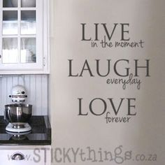 This love wall sticker is an apt quote for Life: Live in the moment, Laugh everyday & Love forever. This wall sticker can used in your lounge, would look amazing in any kitchen or even in the passage, bathroom or bedroom! Our wall decal vinyl is made so that they are fully removable wall stickers and are great interior decor ideas. And: Get 2 owl wall stickers in same colour choice for free!