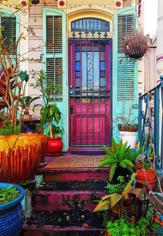 Entrance to an old house at French Quarters of New Orleans