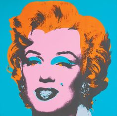 Marilyn 29 by Andy Warhol Blue, Orange, Pink and Black