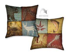 Lodge 4 Patch Decorative Pillow – Laural Home