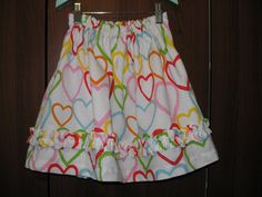 Valentines Day Ruffle Skirt  ON SALE NOW  One of a by LuLuetGiGi, $25.00