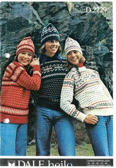 D 2229 Vintage Knitting, Knit Crochet, Winter Hats, Patterns, Fashion, Threading, Fashion Styles, Chrochet, Fasion