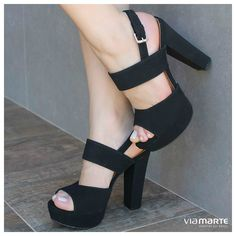 high heels - black shoes - sandália salto alto - party shoes - Inverno 2015 - Ref. 15-6701