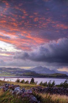 Clouds over the Isle of Skye, Scotland