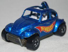 Hot Wheels Diecast Car VW BEETLE Blue w/ Sunroof 1983