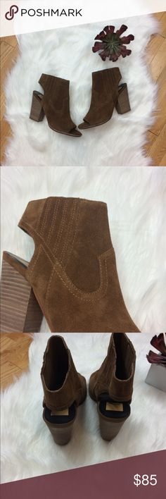Dolce Vita NWOB Block Heel Open Back Booties New without box. Color is true to second picture. Open back. Open toe. 4.5 heel height. Dolce Vita Shoes Ankle Boots & Booties
