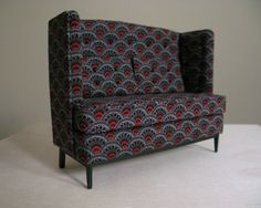 High back sofa  - but in a different fabric. Love the high back! One can lean back & relax, yet get up easily.