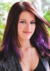 Purple underneath brown hair.