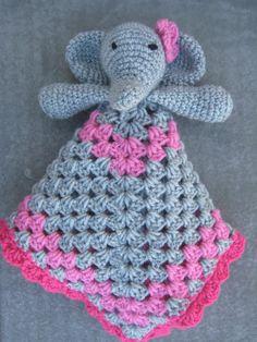 Elephant Security Blanket/Lovey by littlebugaboos on Etsy, $25.00