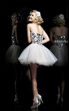Sherri Hill 11131 Short Corset Nude Prom DressOutlet