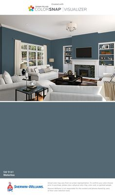 I found this color with ColorSnap® Visualizer for iPhone by Sherwin-Williams: Waterloo (SW 9141).
