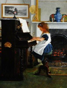 The Athenaeum - MARKS, Henry Stacy British (1829-1898)_At the Piano