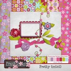 Pretty DSF Blog Train Freebie! Fran B Design  Digi Scrap Challenge on June 10 and 17 2013 for other parts of kit
