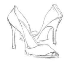 How To Doodle Art   Learn how to draw high heel shoes step 4