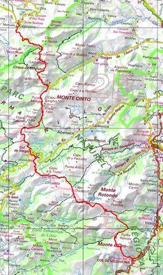 GR20 Randonnée de Calenzana à Vizzavona (Haute Corse) Trekking, Hiking, Camping, Map, Walks, Campsite, Location Map, Outdoor Camping, Hill Walking