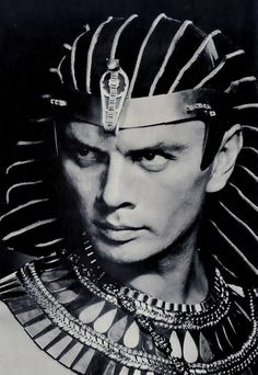 Yul Brynner, as Rameses II - 1956 - The Ten Commandments - Directed by Cecil B. DeMille - http://www.listal.com/list/pharaohs-pyramids-ancient-egypt-film