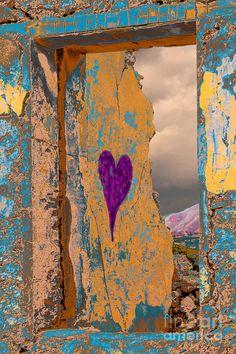 Purple Heart Of Love Graffiti On Wall Of Home Ruin Photograph - Purple ...600 x 900 | 291.4KB | fineartamerica.com