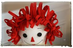 I am now doing Raggedy Ann with felt for hair instead of yarn.  Much easier application!