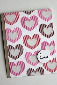 Love Card by Heather Nichols for Papertrey Ink (December 2014)