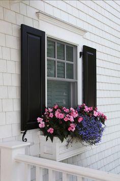 Window Box Planter. Beautiful window box ideas. #WindowBox Asher Associates…