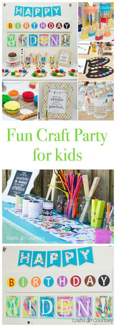 Want a fun and COLORFUL idea for your kids birthday? How 'bout a do-it-yourself art themed birthday party? Your kids will LOVE showing off their artwork!