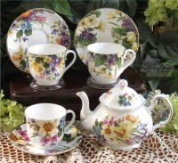 Heirloom Spring Garden Bone China Tea Set - Not sure if I like this or not...