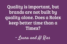 The Law of Quality for brand strategy