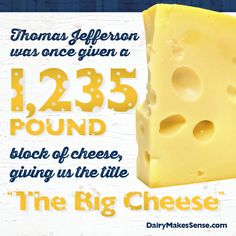 """We salute our presidents, including """"The Big Cheese!"""" #PresidentsDay"""
