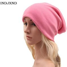 28ffd97e Winter multifunctional beanies autumn woman gorros pure color performance women  beanie hat high quality female skullies M028