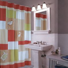 Coral Shower Curtains On Pinterest