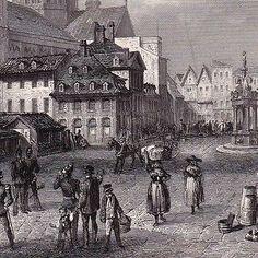 Gravure-XIXe-Vue-de-Mayence-Mainz-Allemagne-Deutschland-Rheinland-Pfalz-1860