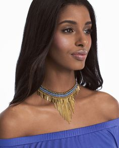 Choker Fringe Necklace