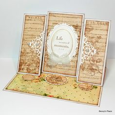 Beccy's Place: Tutorial: Triple Easel Cards