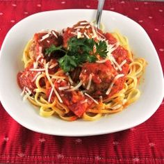 Gluten Free Linguine and Meatballs