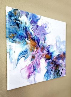 Video tutorial how to make a big dutch pour acrylic pouring fluid art painting Flow Painting, Pour Painting, Diy Painting, Beginner Painting, Acrylic Pouring Art, Acrylic Art, Oil Pastel Paintings, Art Paintings, Indian Paintings