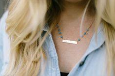 Ellie Holcomb's #mycustomizable Horizon Necklace