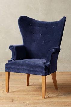 Velvet Wingback Chair - anthropologie.com #anthrofave