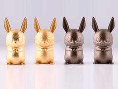 Bowie the Bunny in Stainless Steel by Baroba