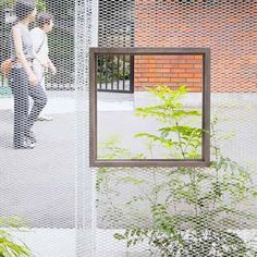 Ghost-like Architecture by Shingo Masuda and Katsuhisa Otsubo Architects - Expanded Metal Mesh Painted White