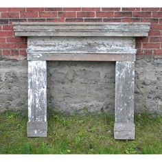 Salvaged fireplace mantel we recently added to our inventory.