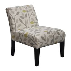 Somette Armless Slipper Beige Leaf Chair - Overstock™ Shopping - Great Deals on Somette Living Room Chairs