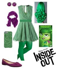 Inside Out Disgust 2015 Movie Classic Child Costume