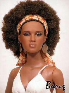 Natural hair Barbie