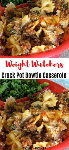 Crock Pot Bowtie Casserole - My list of the most healthy food recipes Healthy Crockpot Recipes, Ww Recipes, Slow Cooker Recipes, Cooking Recipes, Dinner Recipes, Slow Cooking, 21 Day Fix, Clean Eating Snacks, Healthy Eating