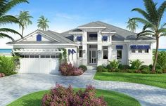 Plan 86028BW: Florida Living with Wonderful Outdoor Space