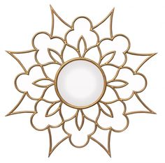 Barclay Butera for Mirror Image Home Ava Wall Mirror Stained Glass Patterns, Mosaic Patterns, Kirigami, Gold Sunburst Mirror, Mirror Image, Mirror Mirror, Magic Mirror, Metal Mirror, Wall Mirrors