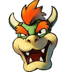 Bowser Mask template